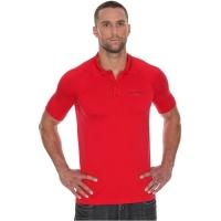 Brubeck Prestige Polo z krótkim rękawem czerwone