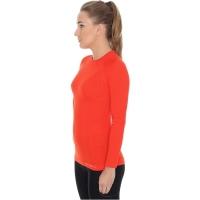 Brubeck Active Wool Koszulka damska długi rękaw ceglasta