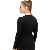 Brubeck Active Wool Koszulka damska długi rękaw czarna