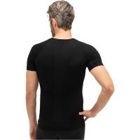 Brubeck koszulka męska krótki rękaw active wool czarna