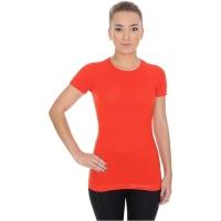 Brubeck koszulka damska krótki rękaw active wool ceglasta