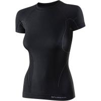Brubeck koszulka damska krótki rękaw active wool czarna
