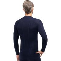 Brubeck Extreme Wool Bluza męska długi rękaw granatowa