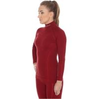 Brubeck Extreme Wool Bluza damska długi rękaw burgundowa