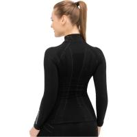 Brubeck Bluza damska długi rękaw Extreme wool czarna