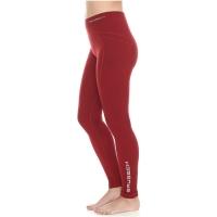 Brubeck Extreme Wool Spodnie damskie długa nogawka burgundowe