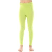 Brubeck Thermo Spodnie dziewczęce termoaktywne limonkowe