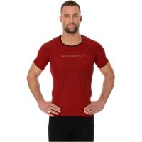 Brubeck 3D Run PRO Koszulka męska z krótkim rękawem ciemnoczerwona