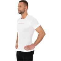 Brubeck Koszulka męska 3D Run PRO z krótkim rękawem biała