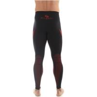 Brubeck Dry Spodnie termoaktywne męskie czarno czerwone