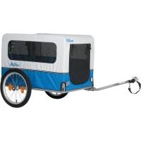 XLC BS L02 Doggy van przyczepka rowerowa transportowa srebrno niebieska