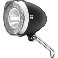 XLC CL F20 Retro lampka rowerowa przednia 20Lux na baterie czarna