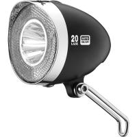 XLC CL D03 Retro lampka rowerowa przednia pod dynamo 40Lux sensor czarna