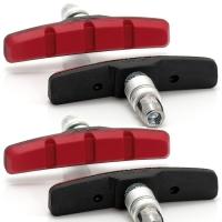 XLC BS V01 Klocki hamulcowe V-brake 70mm zestaw na dwa koła czerwony