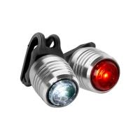 Kryptonite Boulevard F 14 / R 3 Lampka rowerowa przednia i tylna LED srebrna