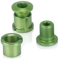 XLC CR X01 Śruby tarcz korby alu zielone
