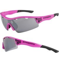 Accent Stingray Okulary rowerowe różowo czarne szaro przezroczyste soczewki