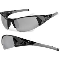 Accent Jackal Okulary rowerowe czarno szare przezroczyste soczewki