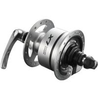 Shimano DH T675 Deore LX Piasta przednia Disc Center Lock z dynamem srebrna