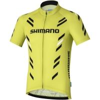 Shimano Print Koszulka z krótkim rękawem Lime Yellow