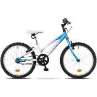 Accent Daisy 2 single Rower dziecięcy 20 cali biało niebieski