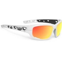 Rudy Project Airgrip RP Optics Okulary rowerowe MTB biało pomarańczowe
