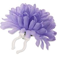 Basil Dahlia Flower Kwiatek na kierownicę fioletowy
