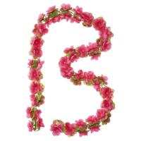 Basil Flower Garland Wianek kwiatów na koszyk fuksja