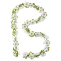 Basil Flower Garland Wianek kwiatów na koszyk biały