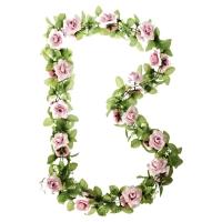 Basil Flower Roses Wianek kwiatów na koszyk różowy