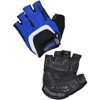 Rogelli Bell Rękawiczki rowerowe niebiesko czarno białe