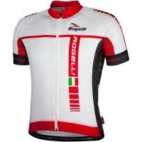 Rogelli Umbria Koszulka rowerowa letnia biało czerwona