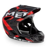 MET Parachute HES Kask MTB DH Enduro czarno czerwony
