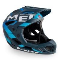 MET Parachute HES Kask MTB DH Enduro niebiesko cyjan