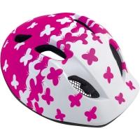 MET Super Buddy Kask rowerowy dziecięcy butterflies różowy