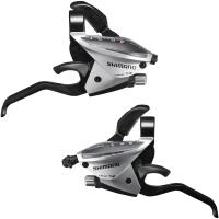 Shimano ST EF510 Altus Klamkomanetki 3x8 rz. srebrne