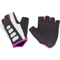 Author Lady Sport Gel X6 Rękawiczki rowerowe damskie z krótkimi palcami czarno biało różowy