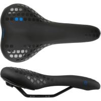 Accent Dots Siodełko rowerowe MTB miejskie czarno niebieskie
