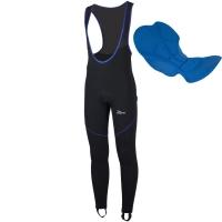 Rogelli Manzano 2.0 Spodnie rowerowe długie z wkładką czarno niebieskie