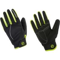 Accent Snowflake Zimowe rękawiczki rowerowe żółte fluo