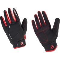 Accent Snowflake Zimowe rękawiczki rowerowe czarno czerwone