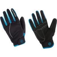 Accent Snowflake Zimowe rękawiczki rowerowe czarno turkusowe