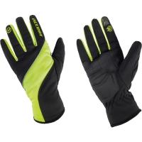 Accent Windstar Zimowe rękawiczki rowerowe czarno neonowe