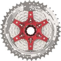 SunRace CSMX8 Kaseta rowerowa MTB 11 rzędowa srebrna