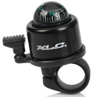 XLC DD M23 Mini Bell dzwonek rowerowy z kompasem czarny