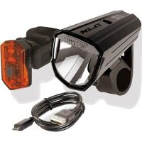 XLC CL S17 Alderan Zestaw lampek rowerowych USB
