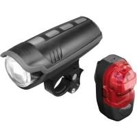 Busch & Muller Ixon Pure B + IX-Post Zestaw Lampek rowerowych LED USB