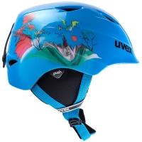 Uvex Airwing II Dziecięcy kask narciarski snowboard blue dragon