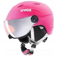 Uvex Junior Visor Pro Dziecięcy kask narciarski snowboard z szybką różowy 2019