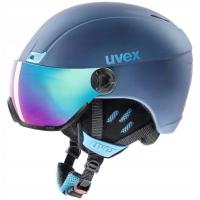 Uvex Hlmt 400 Visor Style Kask narciarski z szybką niebieski 2018